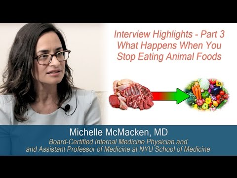 Michelle McMacken, MD - What Happens When You Stop Eating Meat (highlights from interview - Part 3)
