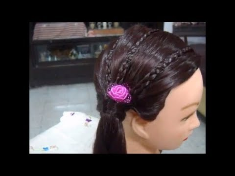 A Quick Braid Hairstyle for Long and Medium hair.