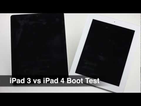 iPad 3 LTE vs iPad 4 WiFi boot up speed test