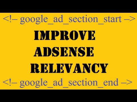 improve Google Adsense relevancy
