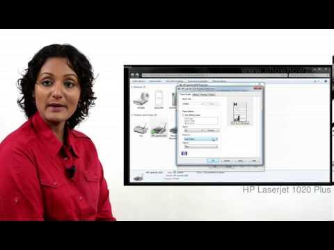 HP LaserJet 1020 Plus - Adjusting Printer Settings