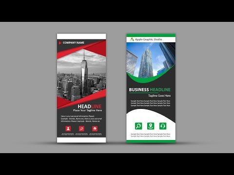 How To Design Roll Up Banner for Business | Photoshop Tutorial
