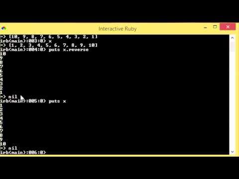 Ruby - 33 - Reversing Arrays