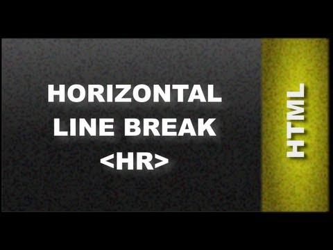 HTML Web Design Tutorials - HTML Horizontal Line Tag  Lesson 6