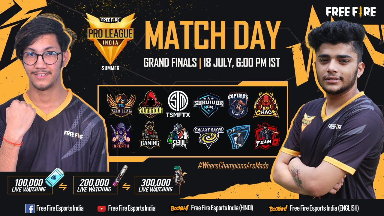 [HINDI] Free Fire Pro League 2021 Summer | Grand Finals