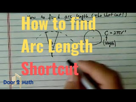 *how to find arc length?  (shortcut!)