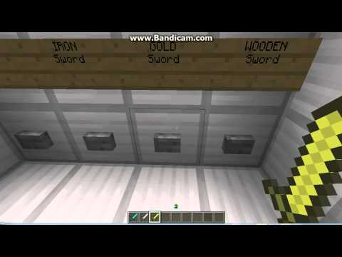Minecraft - Working Sword,Blocks, Vending Machine!