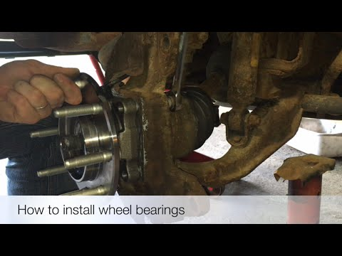 How to install wheel bearings on a Silverado
