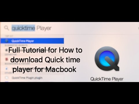 How to download Quick time player for Macbook And how to make a screen recording