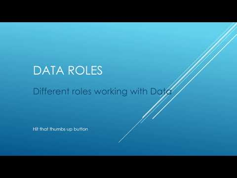 Different Roles Working With Data