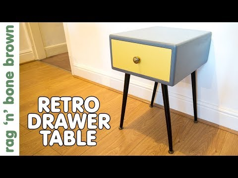 Making A Side Table With A Drawer / Bedside Table