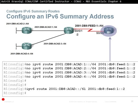 6.4 Configure Summary and Floating Static Routes:  Static Routing (CCNA 2: Chapter 6)
