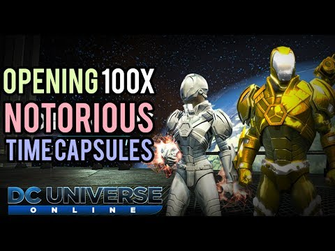 DCUO | Opening 100x Notorious Time Capsules + Giveaway