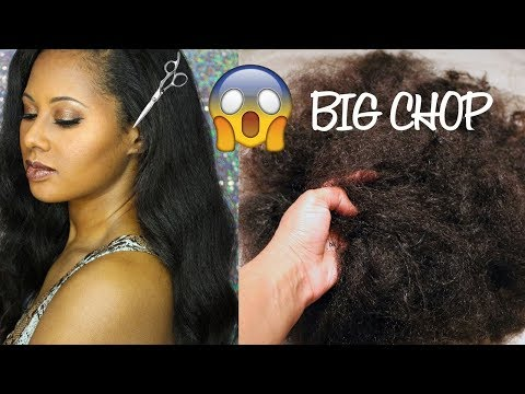 The Biggest Big Chop! 😱 Going Natural!