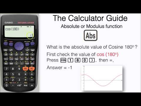 How To Find The Modulus On A Calculator - Abs or Absolute function - Casio fx-83GT fx-85GT PLUS