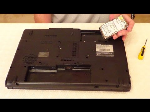 How To Replace A Laptop Hard Drive: Toshiba Satellite L350