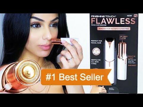 FLAWLESS RAZOR - AMAZONS #1 BEST SELLER IS THE BEST & FASTEST WAY TO REMOVE UPPER LIP HAIR AT HOME
