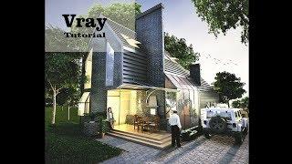 Sketchup Vray Tutorial - Cara setting material dan pencahayaan untuk Dusk Scene rendering