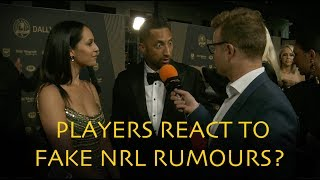 Players React To Fake NRL Rumours At The Dally M Awards | Triple M