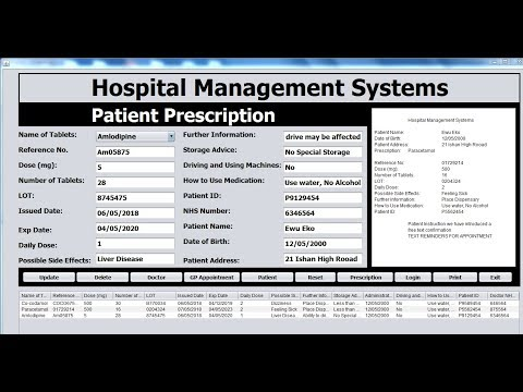How to Create a Hospital Management Systems in Java Netbeans - Part 4 of 4