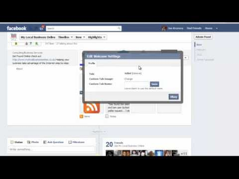 Facebook Timeline - How to change app and tab images on your Facebook business page