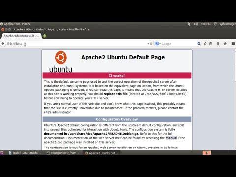 Install LAMP on Ubuntu 14.04  and Create Database phpMyAdmin