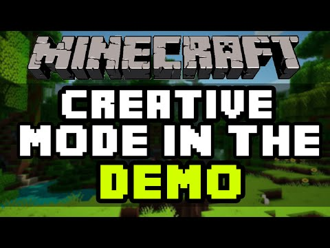 How To Get Creative Mode In The Minecraft PC Demo 2016 - Creative Mode In Demo Tutorial