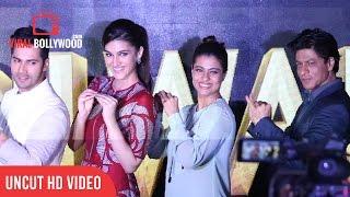 UNCUT - Tukur Tukur - Dilwale   Shah Rukh Khan   Kajol   Varun   Kriti   Rohit Shetty   Song Launch