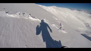 Avalanche filmed GoPro Hero3+ - Snowboarding (The Avalanche Guy)