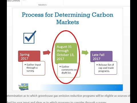 Carbon Markets for the Clean Air Rule- Listening Session