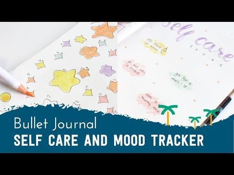 PLAN WITH ME - Bullet Journal Setup for Self Care + Mood Tracker | Stationery Island