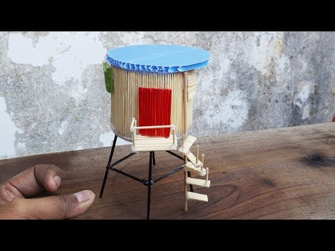 Miniature Water Tower House | Easy Craft Ideas