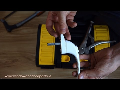 How to replace a window handle on a uPVC window