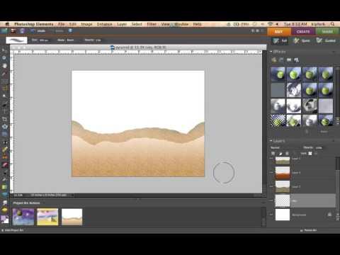 Photoshop Pyramid Desert Landscape