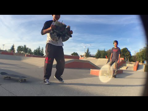 Skater Snaps Board with his bare hands and Ollies ElToro!!!