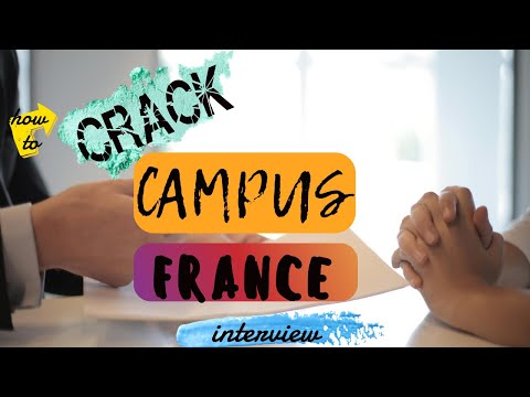HOW TO CRACK CAMPUS FRANCE INTERVIEW 🇫🇷