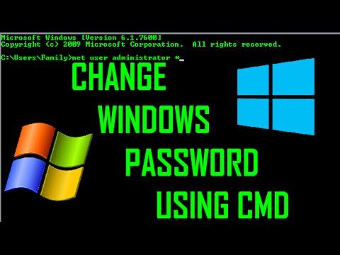 Change windows password using CMD [WORKED]