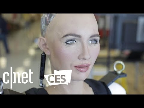 Watch Sophia the robot walk for the first time