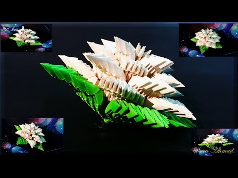 How to make 3d origami flower 8