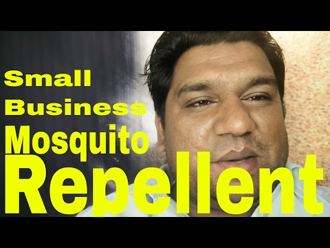 Mosquito repellent making small business
