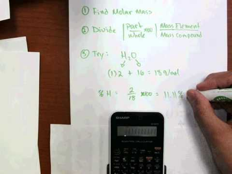 Find Percent Comp of H2O