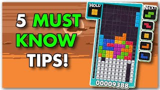 5 MUST KNOW tips for TETRIS beginners!