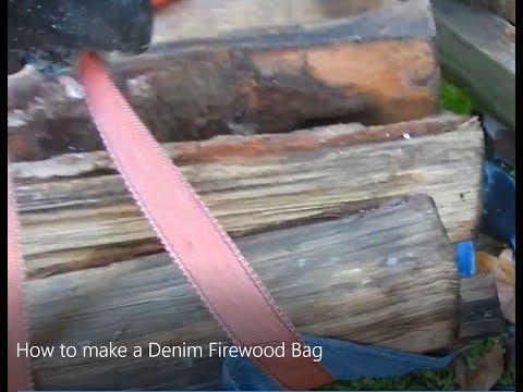How to make a Denim Firewood Bag