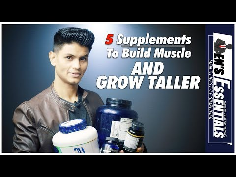 5 Essential Supplements to INCREASE HEIGHT and BUILD MUSCLE | Best Supplement EVERY INDIAN Man Needs