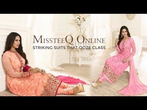 Latest Beautiful Anarkali Dresses, Bridal Wear and Designer Sarees from MissteeQ Online 2016