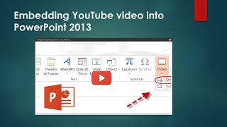 How To Embed a YouTube Video into a PowerPoint 2013