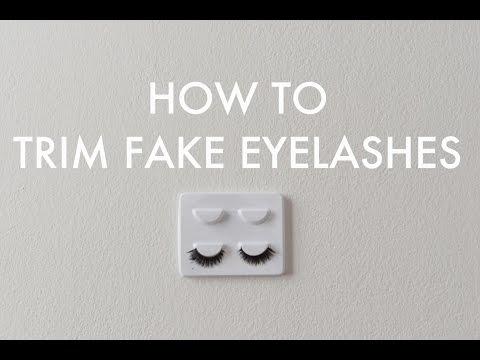 HOWTO | TRIM FAKE EYELASHES