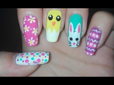 5 Easter/Spring Nail Art Designs Tutorial : Easy DIY Easter Nail Art Ideas | Rose Pearl