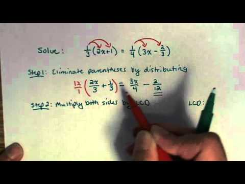 Solving Linear Equation with fractions and parentheses