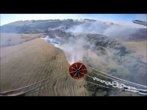 Fire Suppression by Sheriff's Office STARR 1 Helicopter